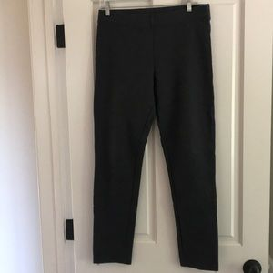 GAP Tall gray leggings with zipper detail at ankle